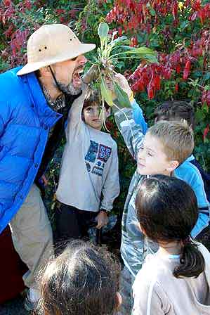 "Harrison Ave. Elementary School Students Offer ""Wildman"" Common Evening Primrose"